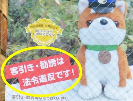 所沢市客引き行為等の禁止に関する条例・埼玉県迷惑行為防止条
