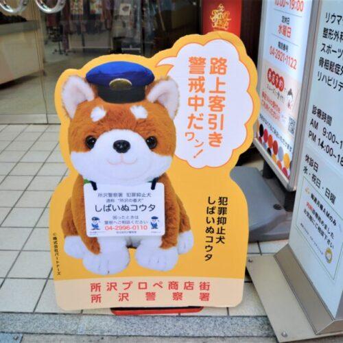 所沢警察署正式委託・犯罪防止犬「しばいぬコウタ」(所沢の番犬)